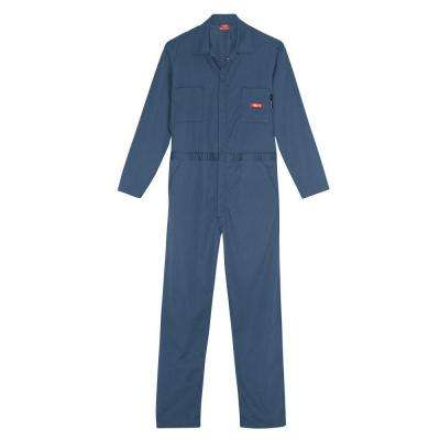 Men's Extra Large Navy Flame Resistant Lightweight Coverall