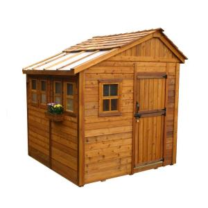 Outdoor Living Today Sunshed 8 ft. x 8 ft. Western Red Cedar Garden Shed by Outdoor Living Today