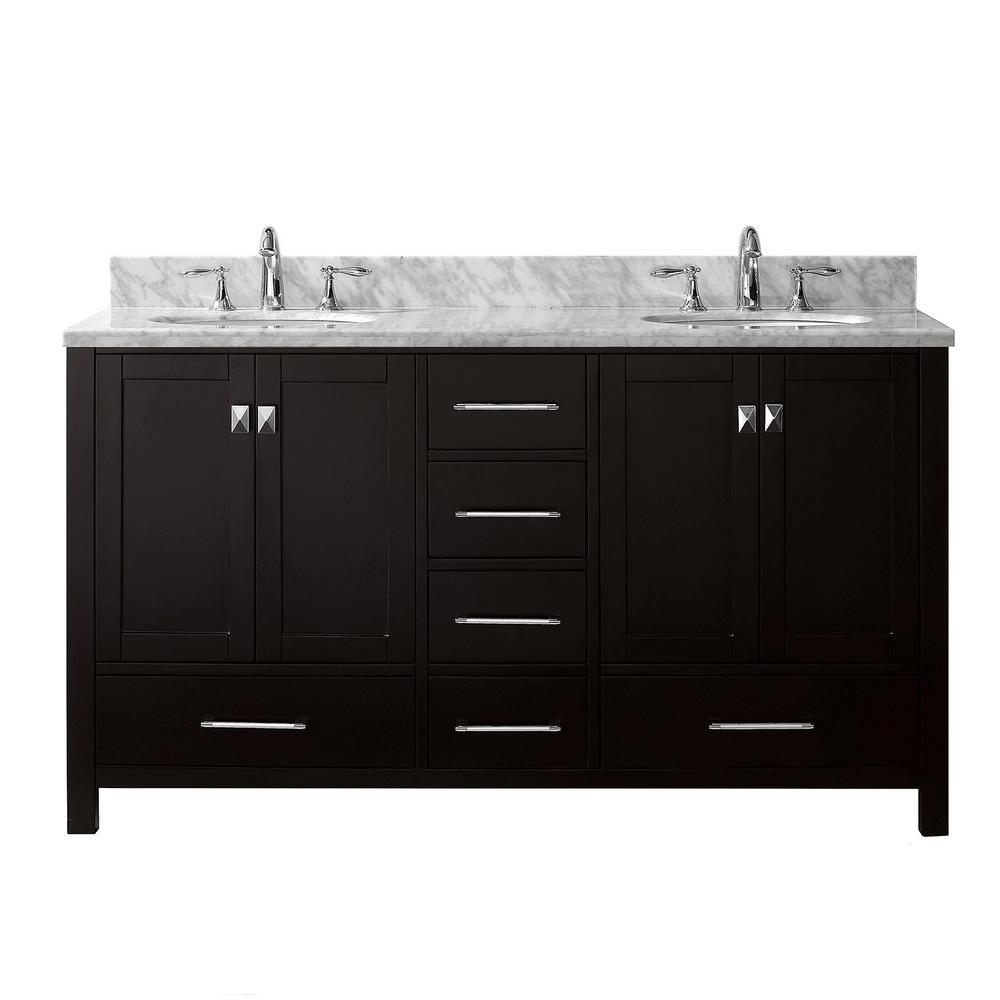 Caroline Avenue 60 in. W x 22 in. D Double Vanity