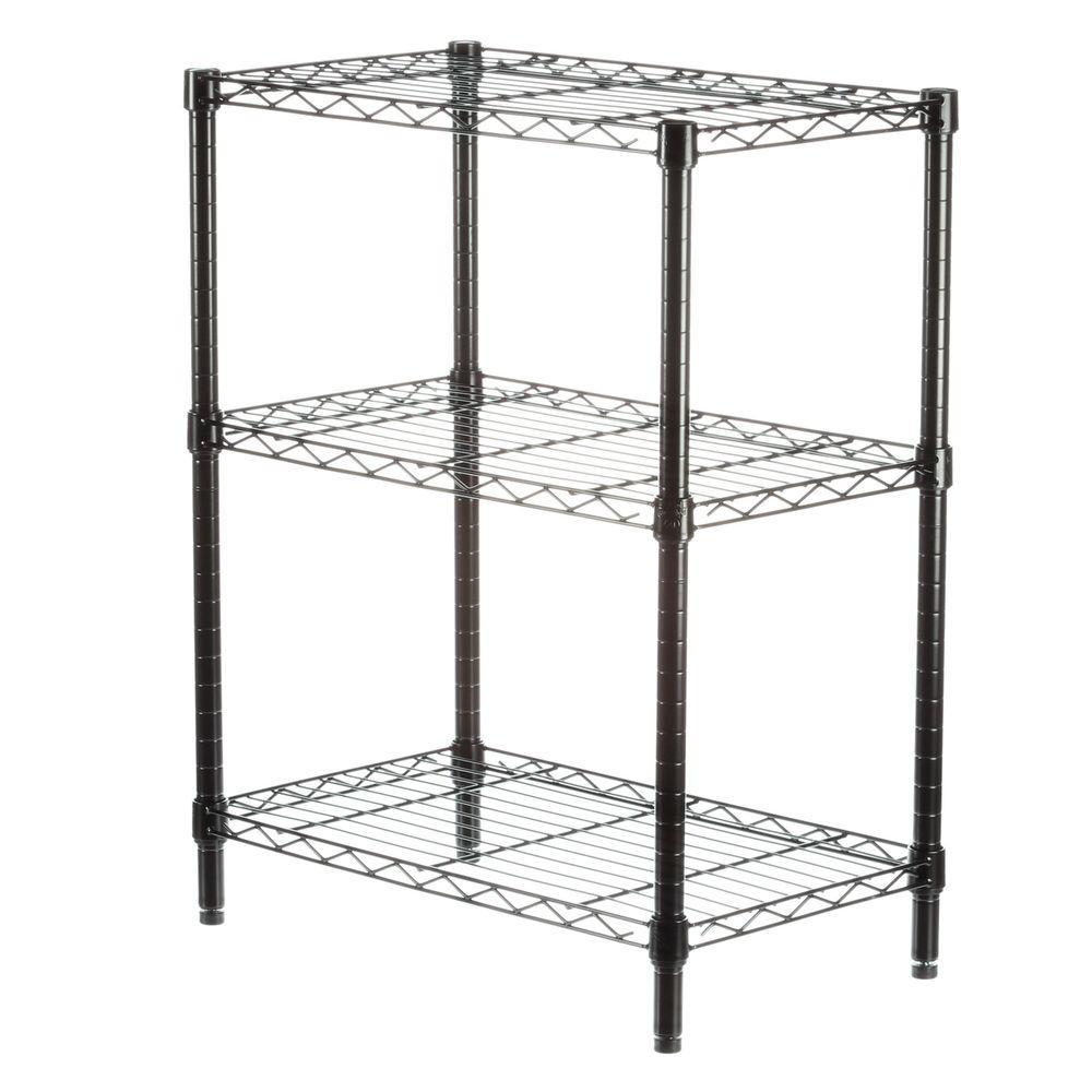 3-Shelf 30 in. H x 24 in. W x 14 in. D Steel Commercial Shelving Unit