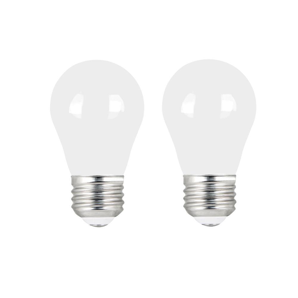 more photos b065d 4ccff Feit Electric 60-Watt Equivalent A15 Dimmable Filament CEC Title 20 90+ CRI  White Glass LED Ceiling Fan Light Bulb Daylight (2-Pack)
