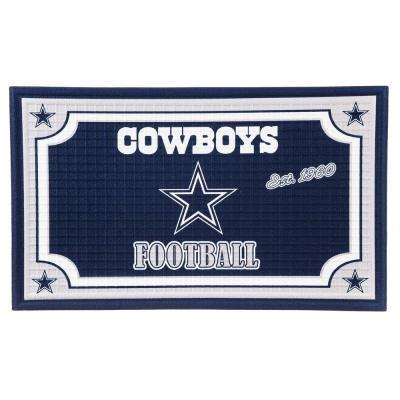 Dallas Cowboys 18 in. x 30 in. Embossed Welcome Mat