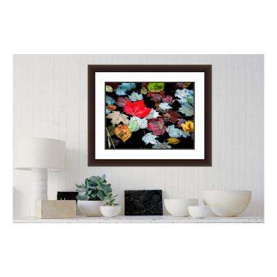33.63 in. W x 27.63 in. H Autumn Leaves by David W. Pollard Printed Framed Wall Art