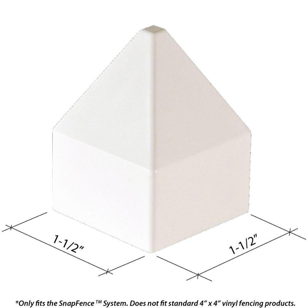 1-1/2 in. x 1-1/2 in. Vinyl Modular Fence Post Cap (10-Box)