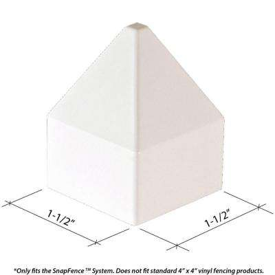 1-1/2 in. x 1-1/2 in. Vinyl Modular Fence Post Cap (10-Box)