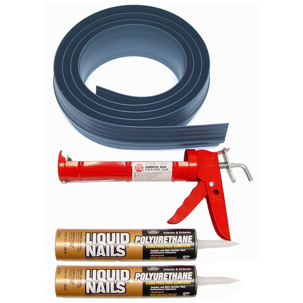 Auto Care Products 20 ft. Gray Garage Door Threshold Kit