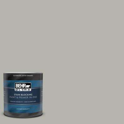 1 qt. #PPU25-08 Heirloom Silver Satin Enamel Exterior Paint and Primer in One