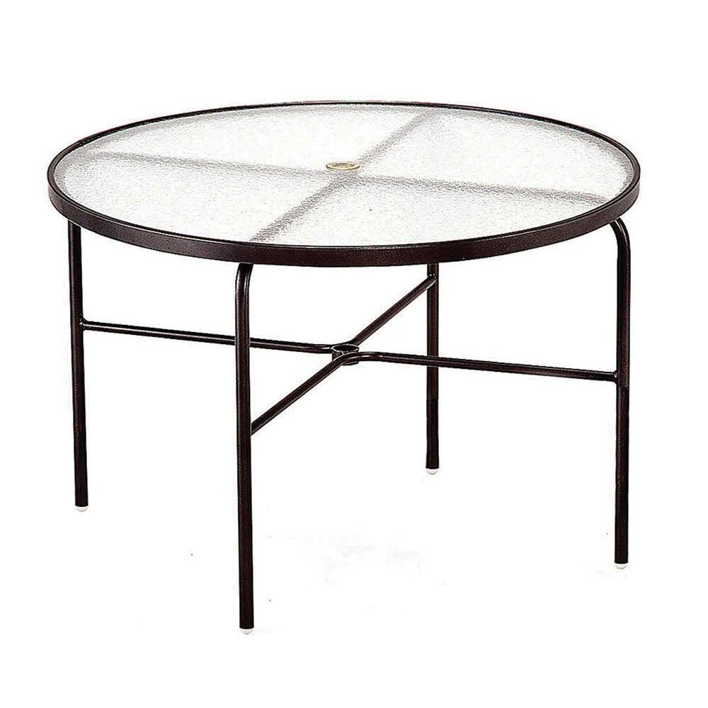 Tradewinds 42 In. Java Acrylic Top Commercial Patio Dining Table