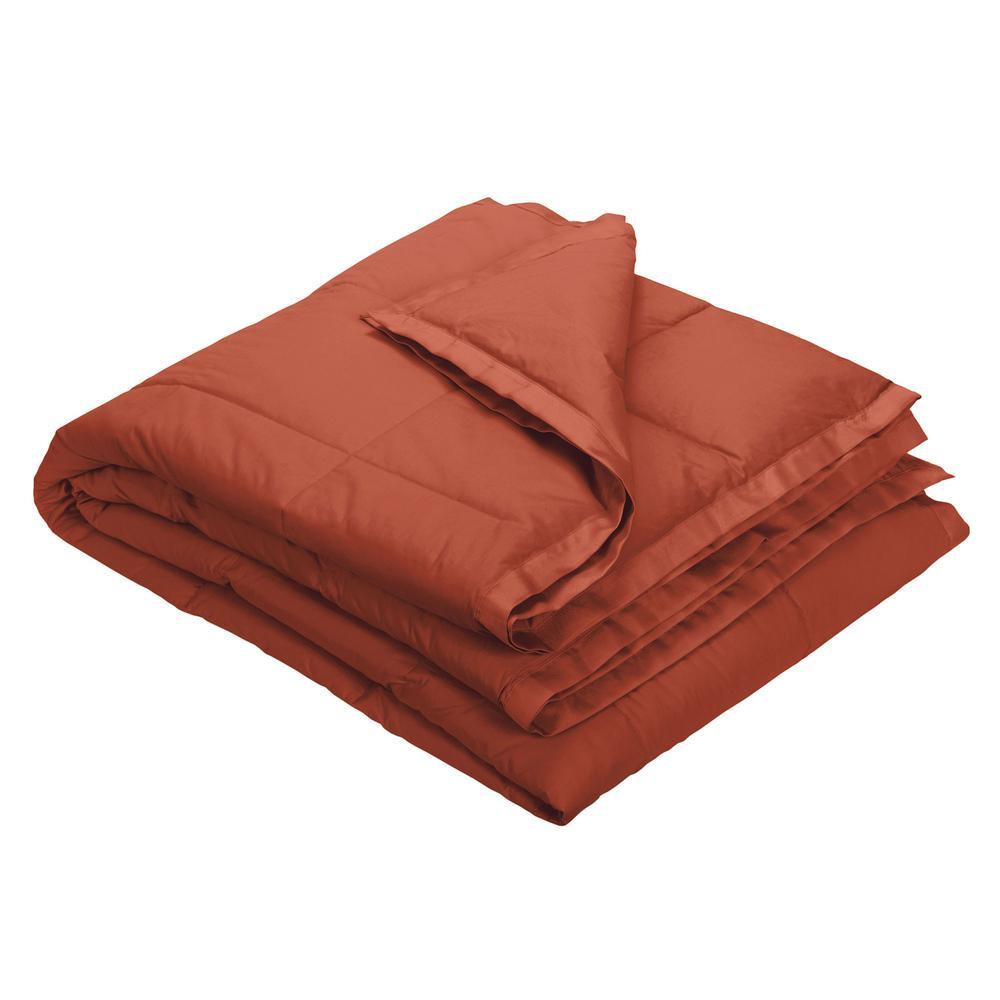LaCrosse Down Russet Cotton Throw Blanket
