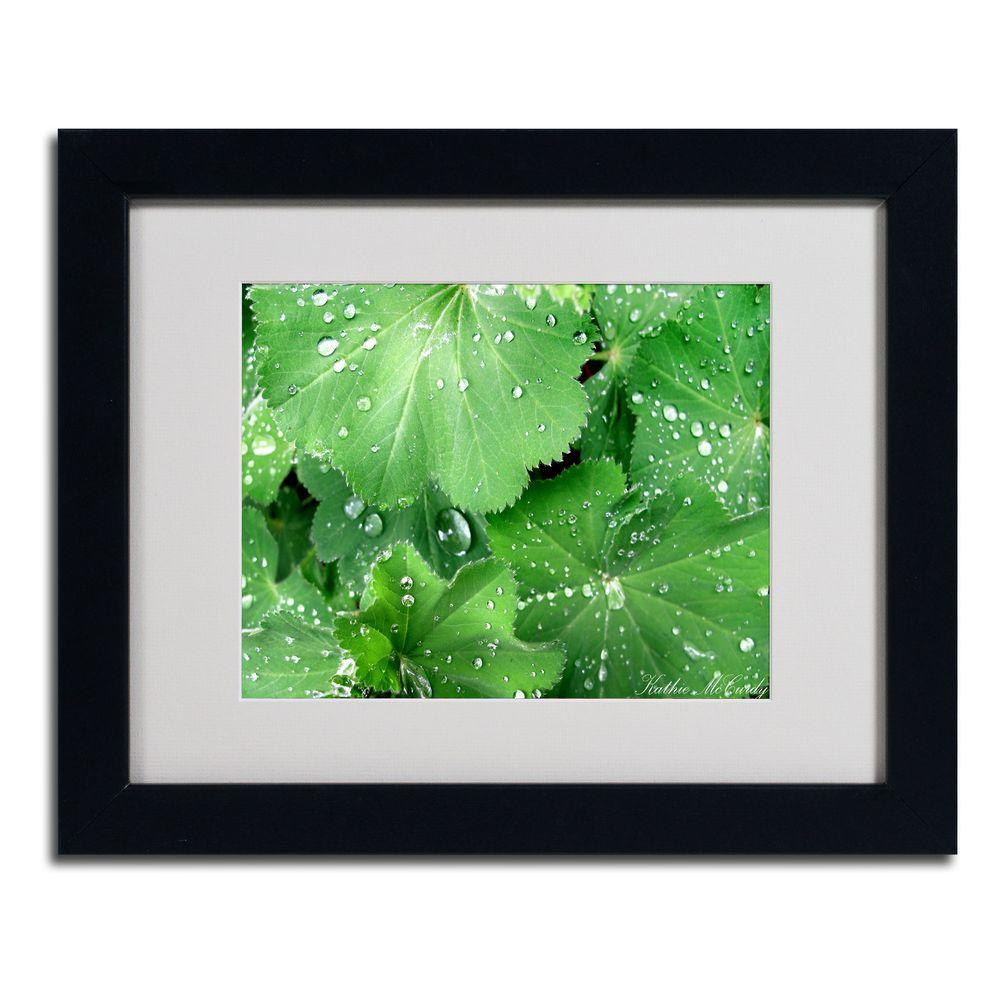 null 11 in. x 14 in. Water Droplets Matted Framed Art