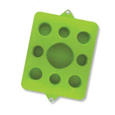9-Cutout Kiwi Green Pool Floating Drink Tray