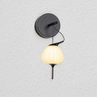 Lecce 4.75 in. Black LED Sconce