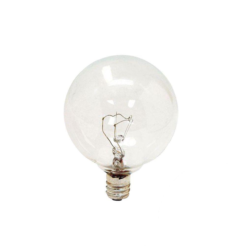 GE 40-Watt Incandescent G16.5 Globe Clear Light Bulb (4-Pack)