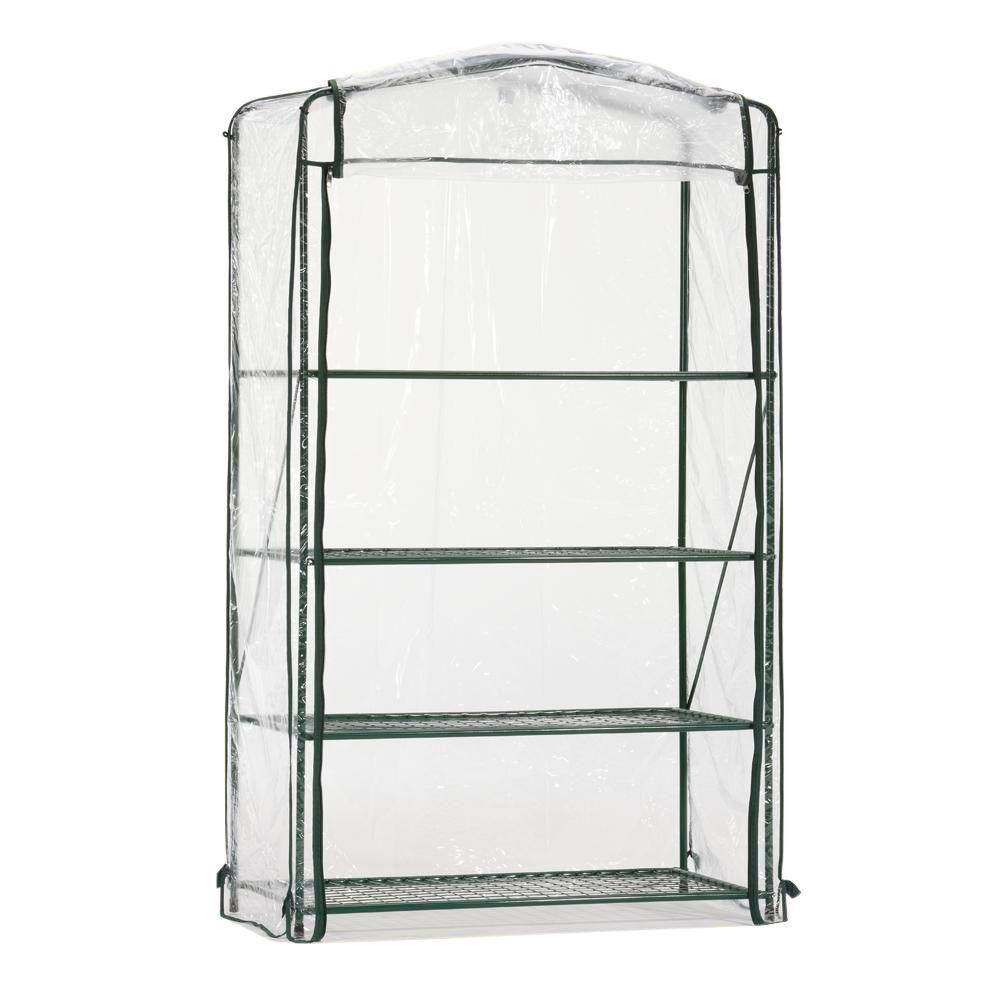 66 in. H x 40 in. W x 20 in. D 4-Shelf Steel Wall Unit Free Standing Shelves
