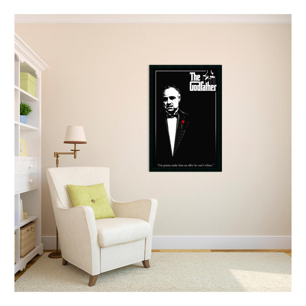 Amanti Art 26 in. W x 38 in. H Godfather - Red Rose Framed Art Print ...