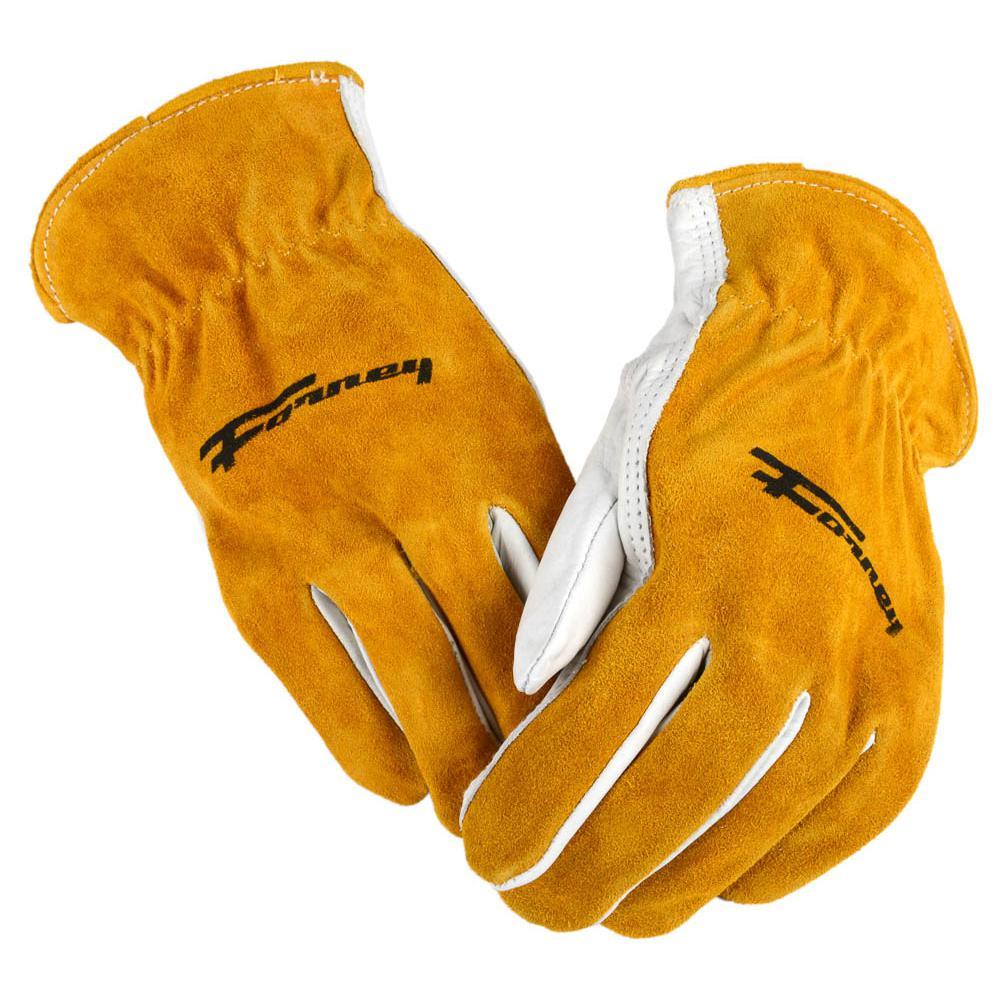 Men's Large Cowhide Split Back Leather Driver's Gloves