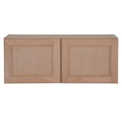 Easthaven Shaker Assembled 30x12x12 in. Frameless Wall Cabinet in Unfinished Beech