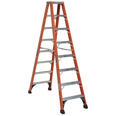 Louisville Ladder 6 Ft Fiberglass Twin Step Ladder With 375 Lbs Load Capacity Type Iaa Duty Rating Fm1406hd The Home Depot