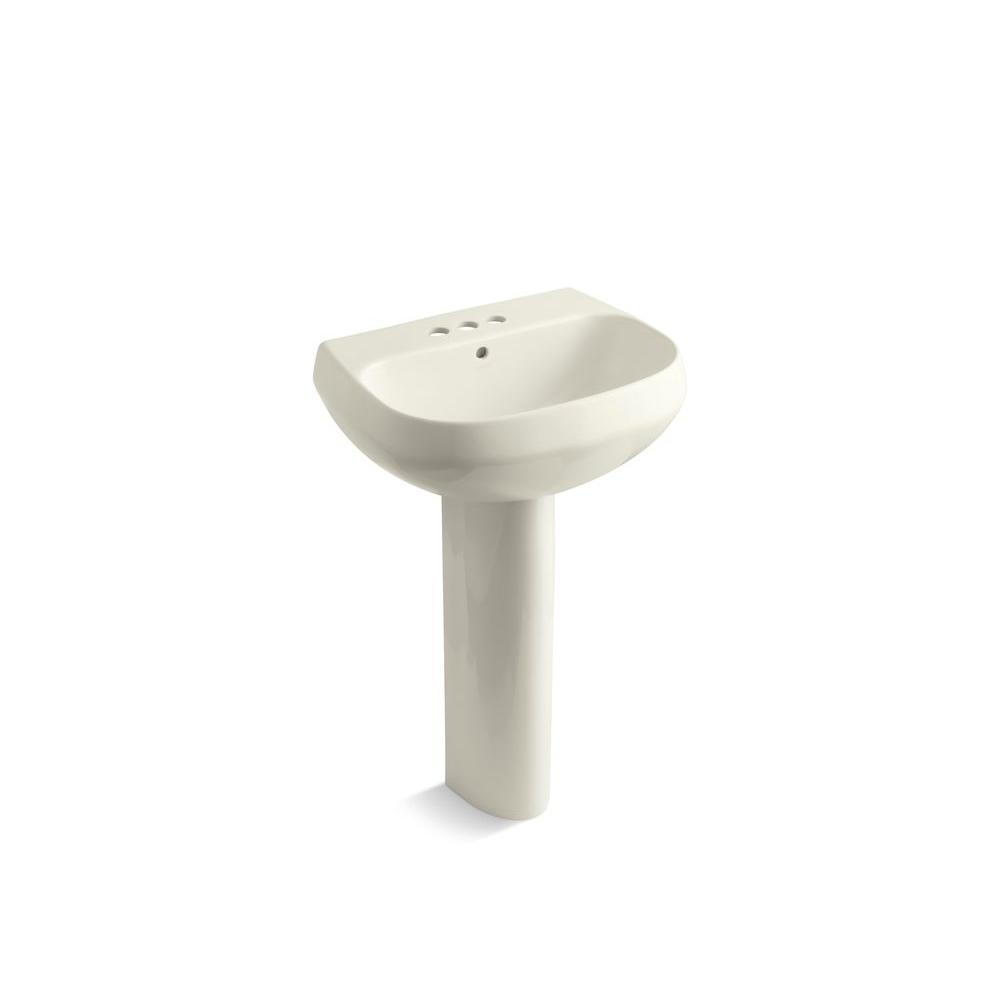 Kohler wellworth vitreous china pedestal combo bathroom - Home depot bathroom pedestal sinks ...