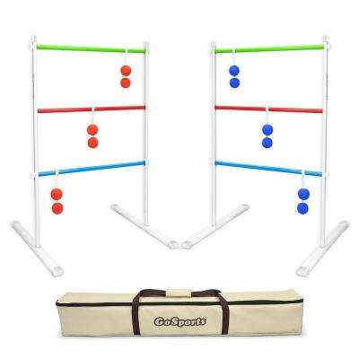 Premium Foldable Metal Ladder Toss Game Set with 6 Rubber Bolos and Portable Carry Case