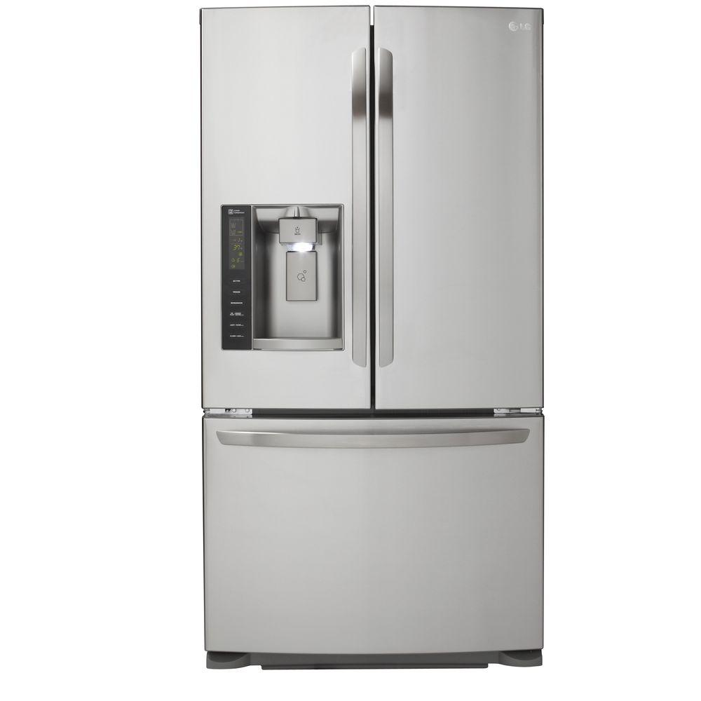 French Door Refrigerator In Stainless Steel, Dual Ice