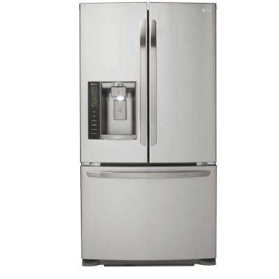 24.1 cu. ft. French Door Refrigerator in Stainless Steel, Dual Ice Maker