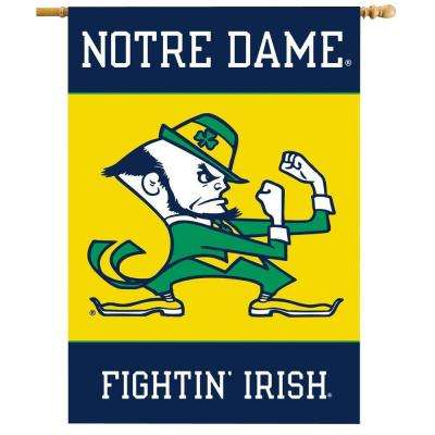 NCAA 28 in. x 40 in. Notre Dame 2-Sided Banner with Pole Sleeve