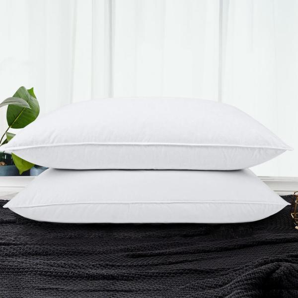 Goose Down and Feather Standard Pillows (Set of 2)
