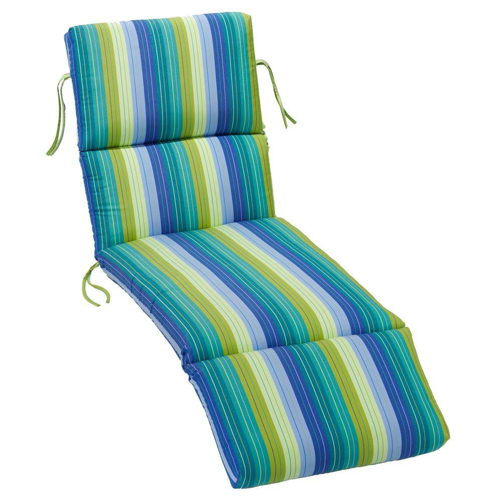 Home Decorators Collection Sunbrella Seaside Seville Outdoor Chaise Lounge Cushion