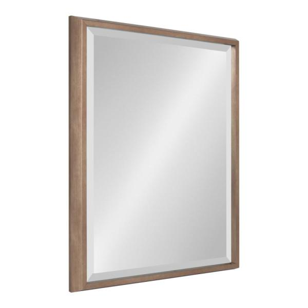 Kate and Laurel Blake Rectangle Gold Wall Mirror 214056