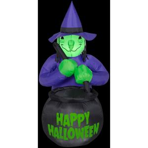 Airblown H Inflatable Witch w/Caldron Happy Halloween Deals