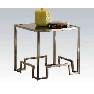Amelia Champagne Glass Top End Table