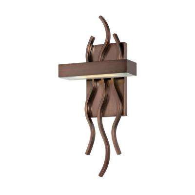 Titus 7.88 in. Hazel Bronze Integrated LED Sconce