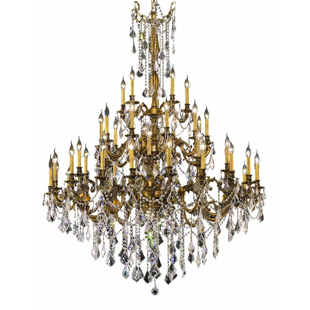 Elegant Lighting 45 Light French Gold Chandelier With Clear Crystal