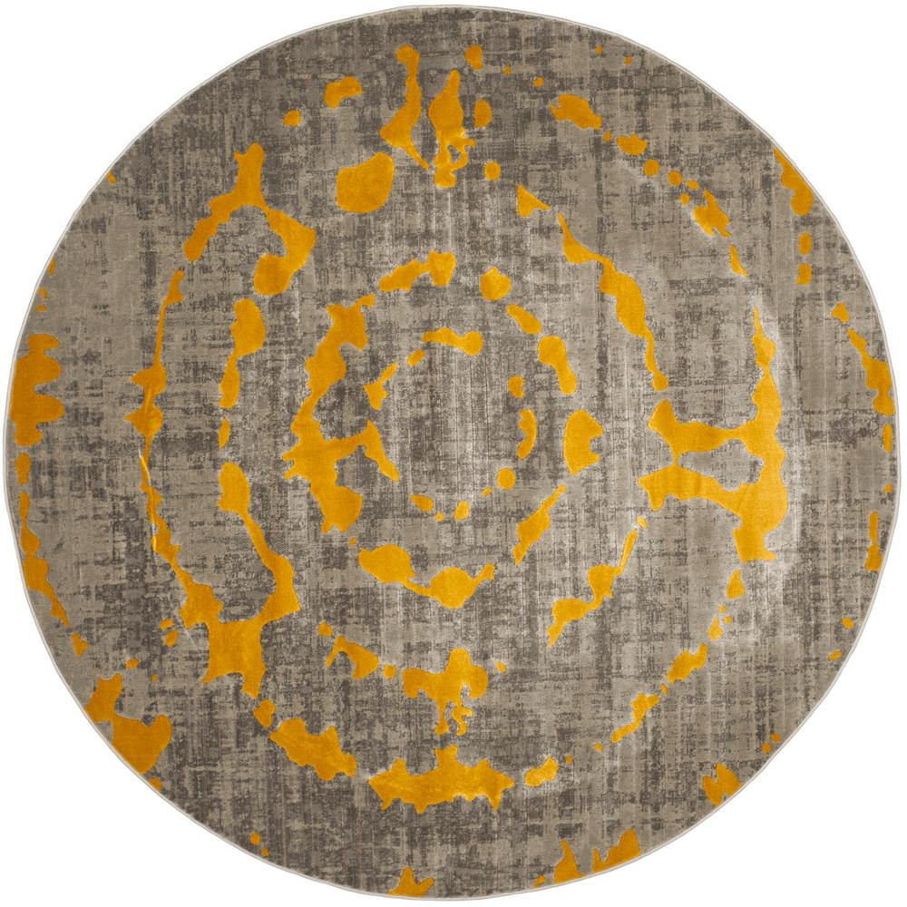 Safavieh Porcello Light Gray Yellow 6 Ft 7 In X 6 Ft 7