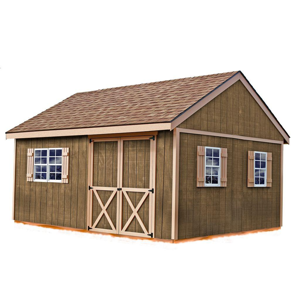 Best Barns New Castle 16 ft. x 12 ft. Wood Storage Shed Kit with Floor