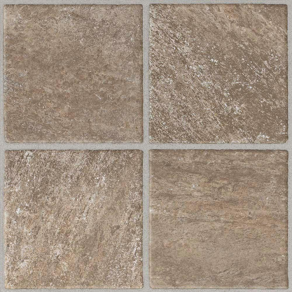 Trafficmaster quartz stone 12 in x 12 in peel and stick for Stick on vinyl flooring