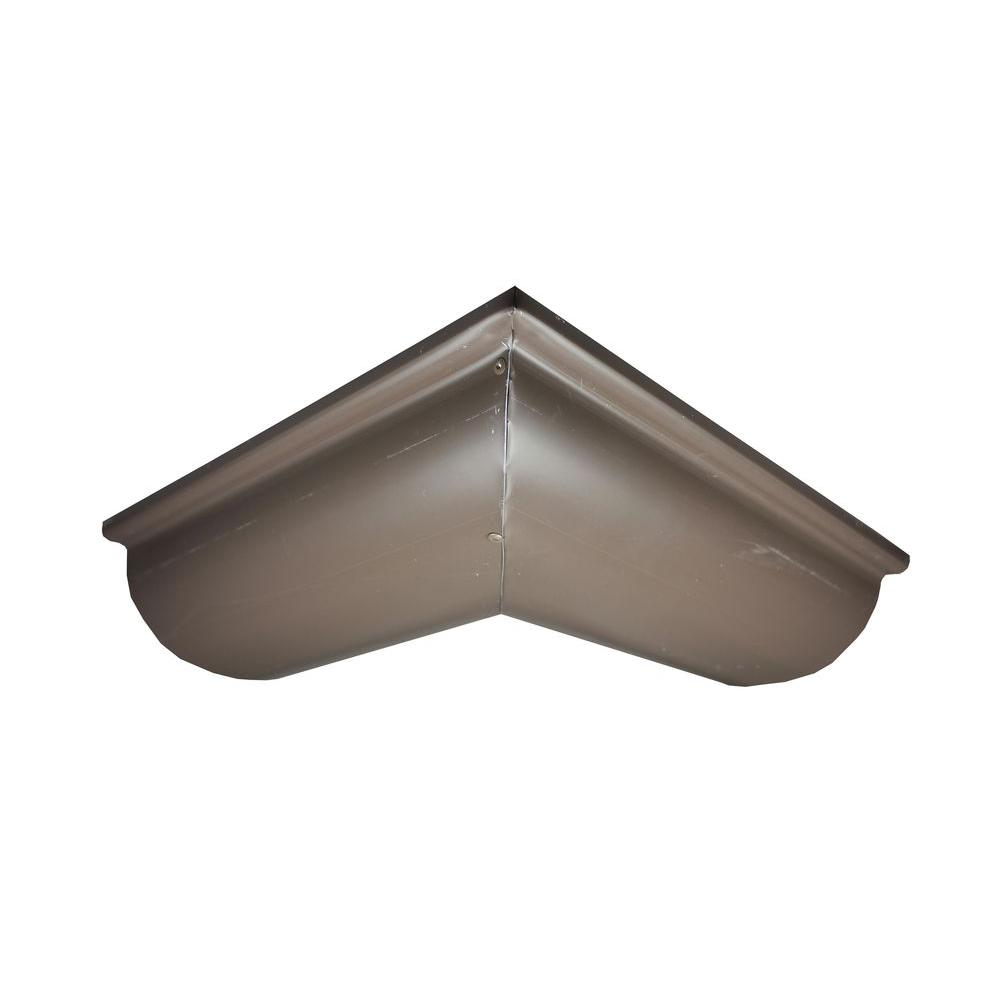 6 in. Half Round Musket Brown Aluminum Outside Miter