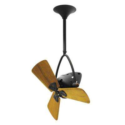 Jarold Direcional 16 in. Indoor/Outdoor Matte Black Ceiling Fan with Wall Control