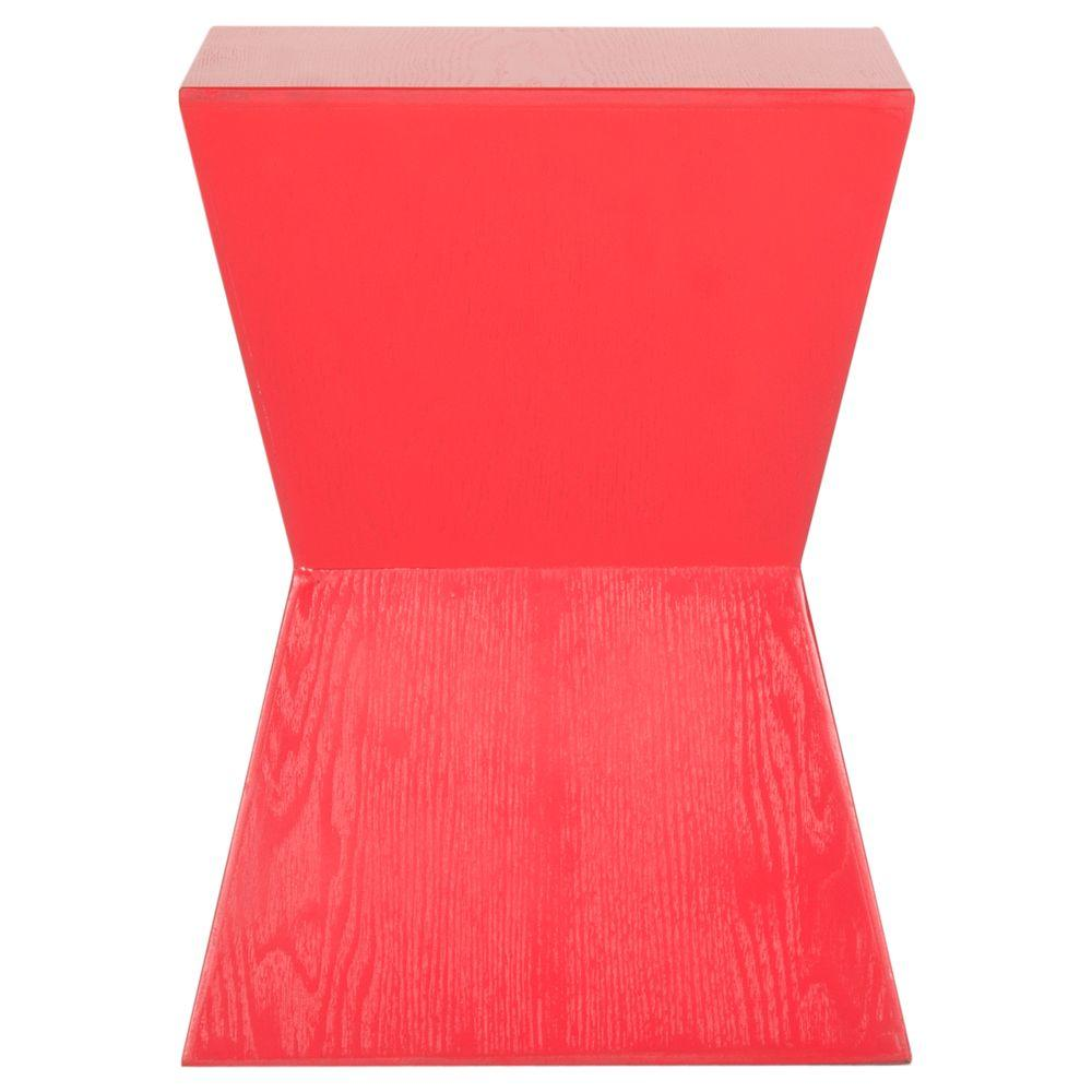 Safavieh Lotem Hot Red End Table Amh6618d The Home Depot