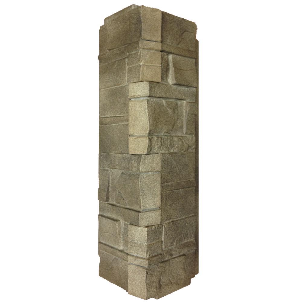 16 in. x 5.88 in. Dry Stacked Stone Corner Siding in Brownstone (5-Case)