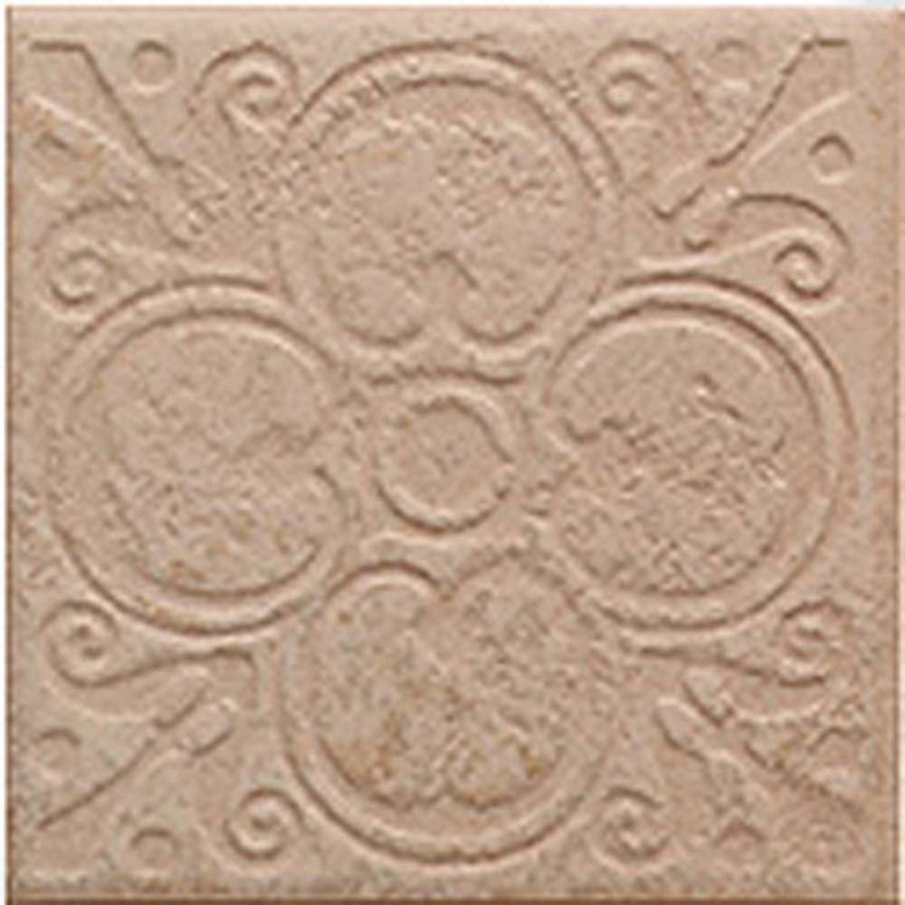 MARAZZI Sanford Adobe 6-1/2 in. x 6-1/2 in. Deco in Porcelain Floor and Wall Tile (12 pieces /case)