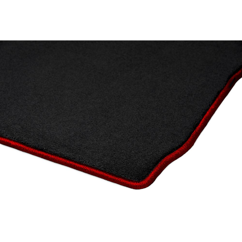 GGBAILEY D51294-F1A-BLK/_BR Custom Fit Car Mats for 2016 Scion iA Black with Red Edging Driver /& Passenger Floor