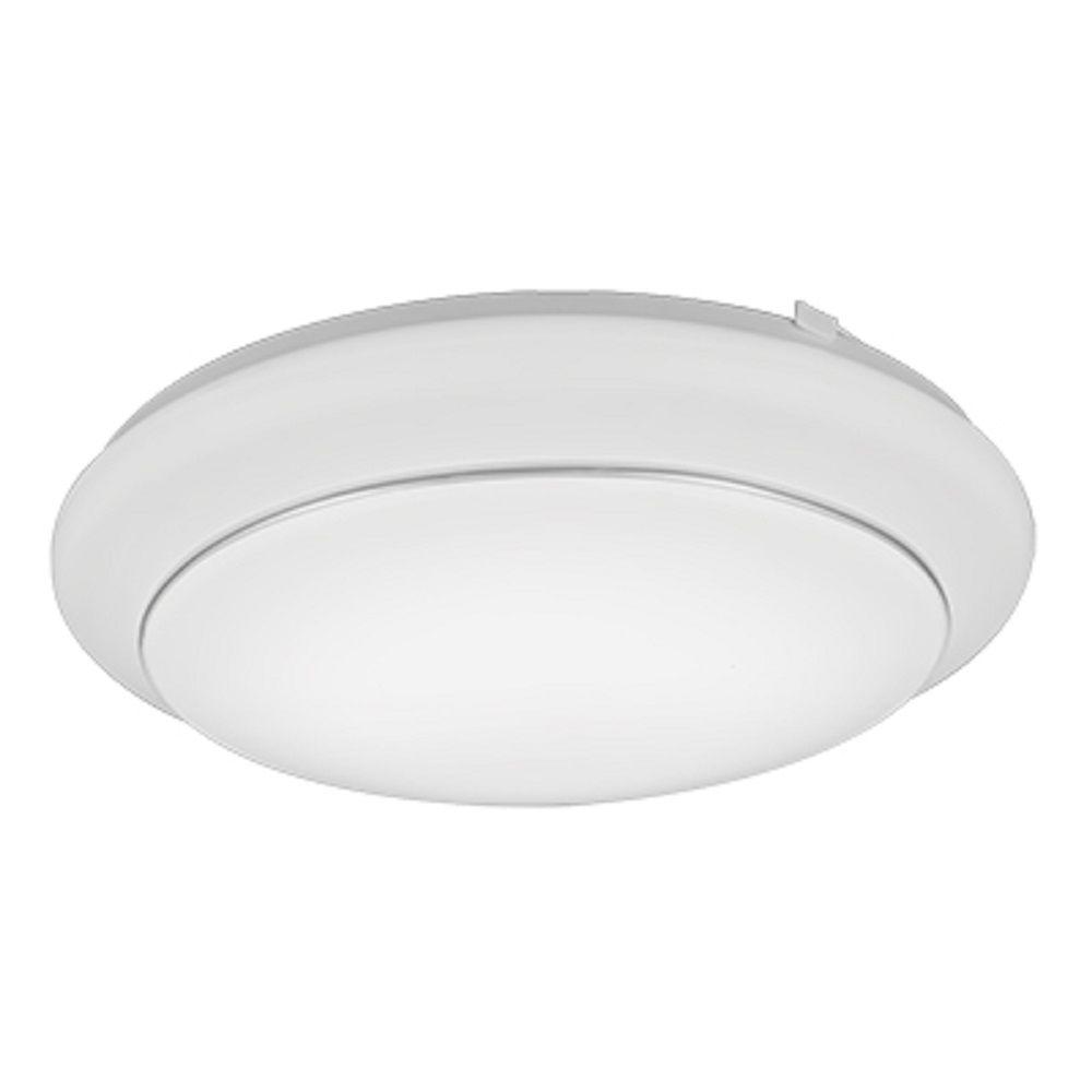 Bandon 14 in. Polished Silver LED Flushmount