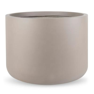 Cyrus 23.5 in. Dia Cedar Gray FiberStone Pot
