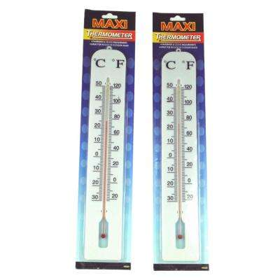 15 in. Maxi Analog Thermometer (2-Pack)