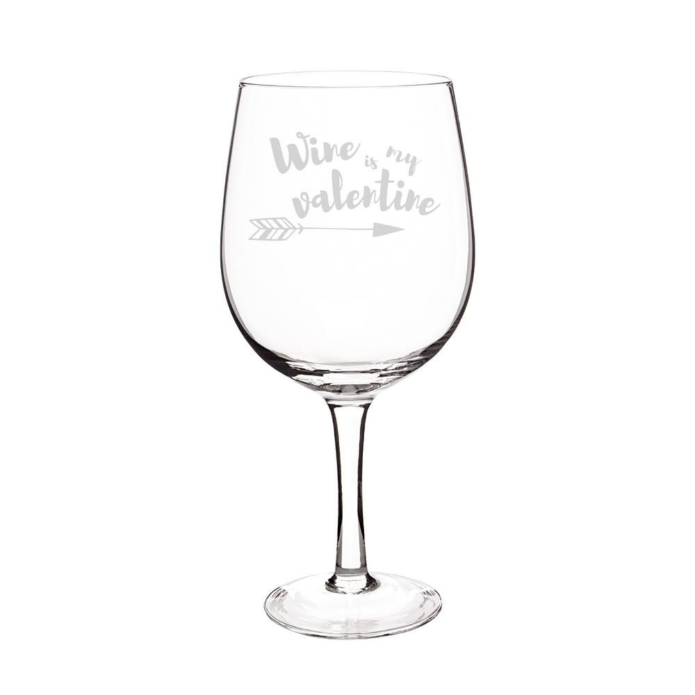 null valentine 25 oz novelty xl wine glass - Valentine Wine Glasses