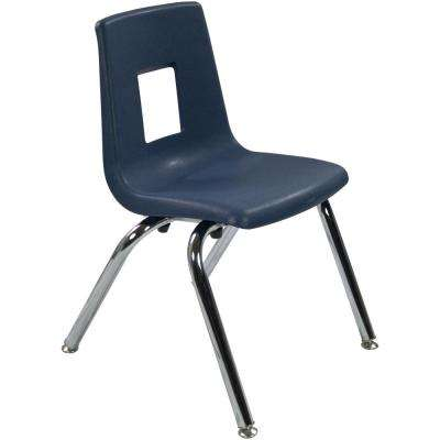 14 in. Navy Student Stack School Chair