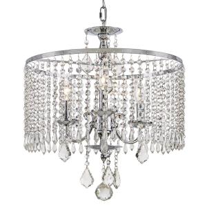 Click here to buy Fifth and Main Lighting 3-Light Polished Chrome Chandelier with K9 Crystal Dangles by Fifth and Main Lighting.