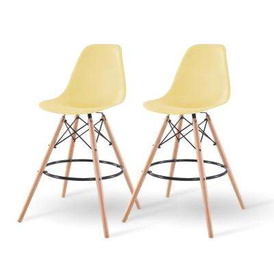 43 in. Yellow Bar Stool (Set of 2)